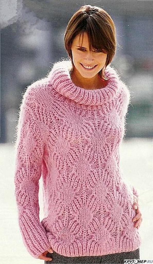 Свитер спицами. 133 схемы вязаных свитеров со схемами