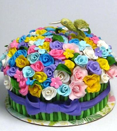 Торты на день рождения в виде цветов