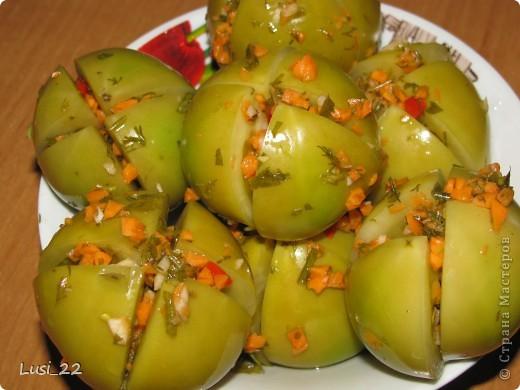помидоры зеленые рецепт с фото