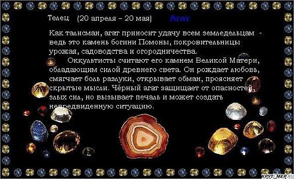Камень тельцов женщины по гороскопу по дате