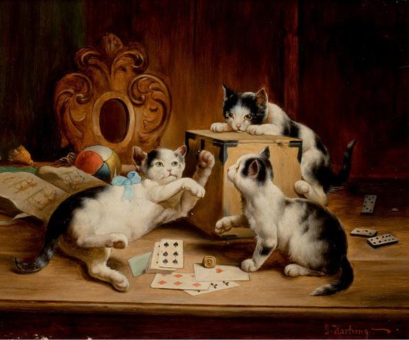 Кошки Играют В Казино Вулкан