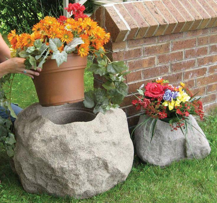 Как сделать искусственные камни для сада своими руками
