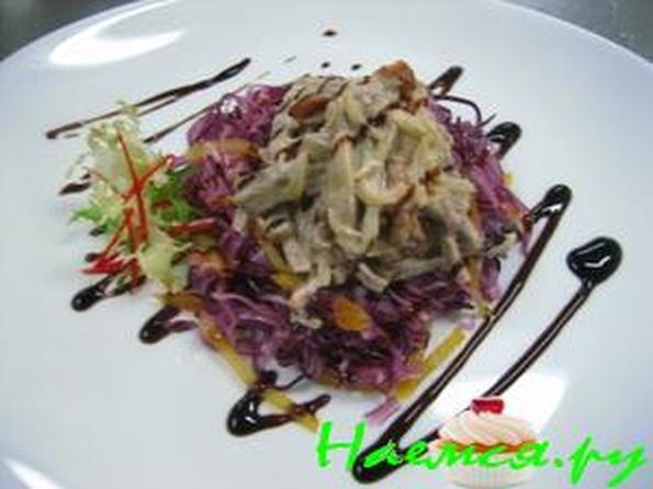 Салат с языком с огурцом рецепт
