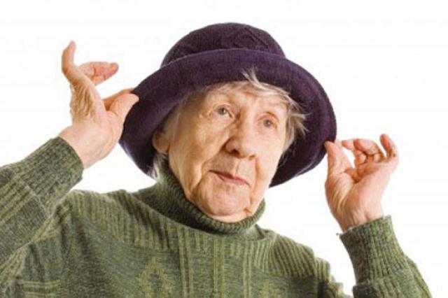 Полная старушка на фото