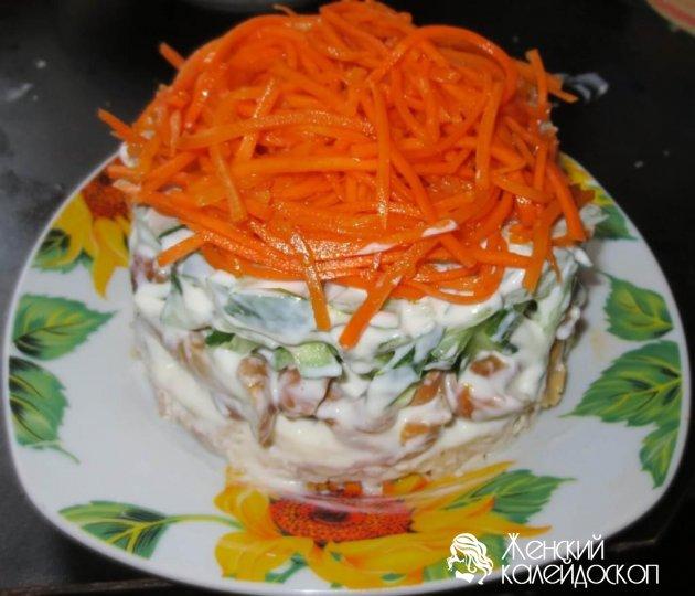 Салаты с корейской морковкой и черносливом