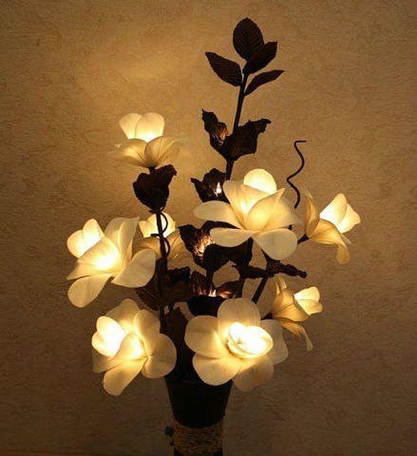 Светильник своими руками из цветов