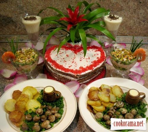Простые рецепты романтического ужина с фото