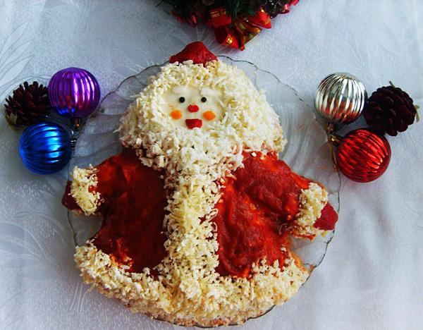 Рецепт салата дед мороз с фото