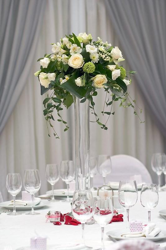 Букет на столы гостей на свадьбу