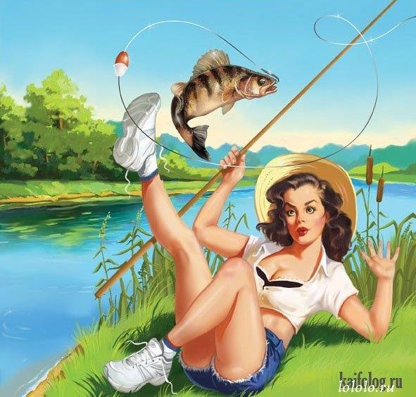 поехали с друзьями на рыбалке и взяли собой жену