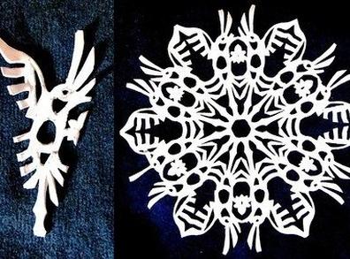 Необычные снежинки своими руками из бумаги на
