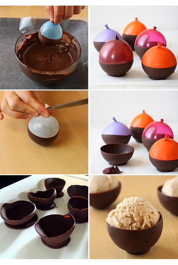 Как сделать бокал из шоколада