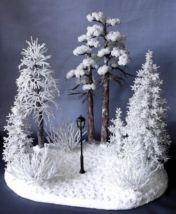 Зимние композиции своими руками фото