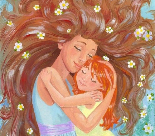 Днем рождения, картинки мамы и дочки с любовью нарисованные с надписями