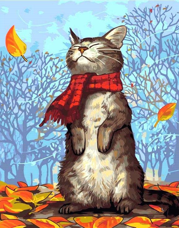 Осень картинка прикол, открытка скрап
