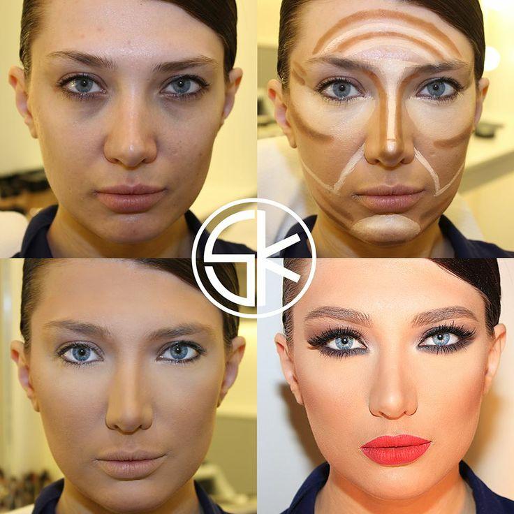 Коррекция лица с помощью корректоров фото пошагово
