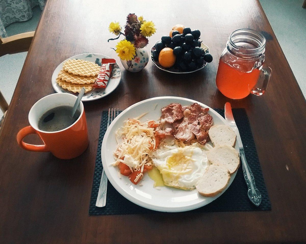 Красивая открытка, картинки с завтраками для доброго утра