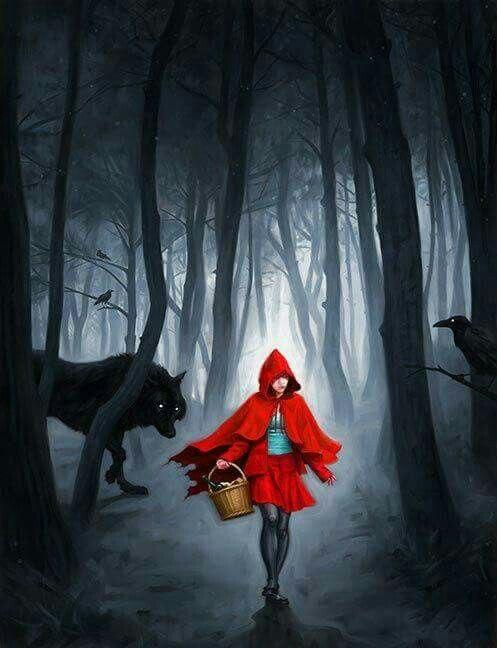 Красная шапочка и серый волк современные картинки