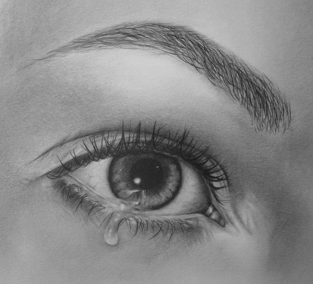 Картинка глаза простым карандашом